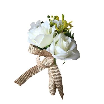 Amazon Weddingbobdiy Artificial Rose Flower Groom Boutonniere