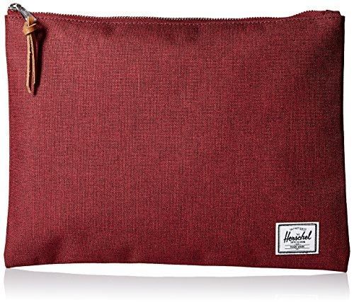 Herschel Supply Co. Women's Network Extra Large Pouch, Wine Crosshatch, (Large Pouch)