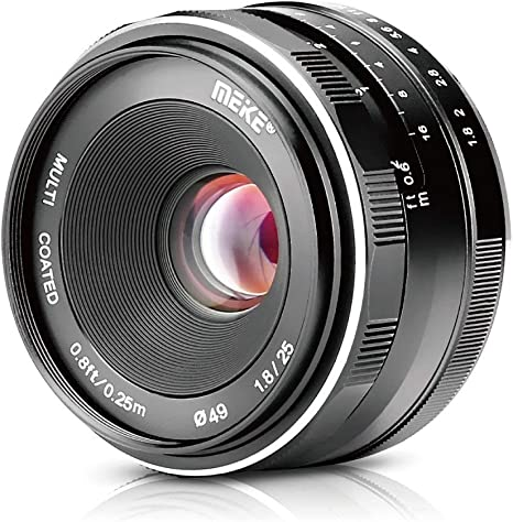 Meike Lente gran angular de 25 mm f / 1.8 gran apertura lente de ...