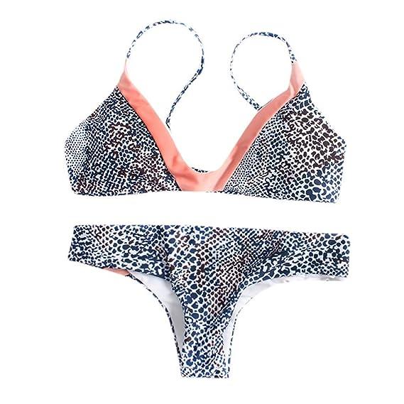7971971c7c02 Mymyguoe Mujeres Bikini Split Traje de baño Conjunto de Bikini ...