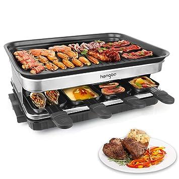 Raclette Grill Party Grill con 8 Mini Sartenes Revestimiento ...