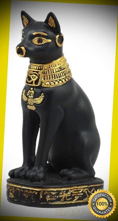 Amazon com : KARPP Egyptian God Protection Home Bastet Cat Dollhouse