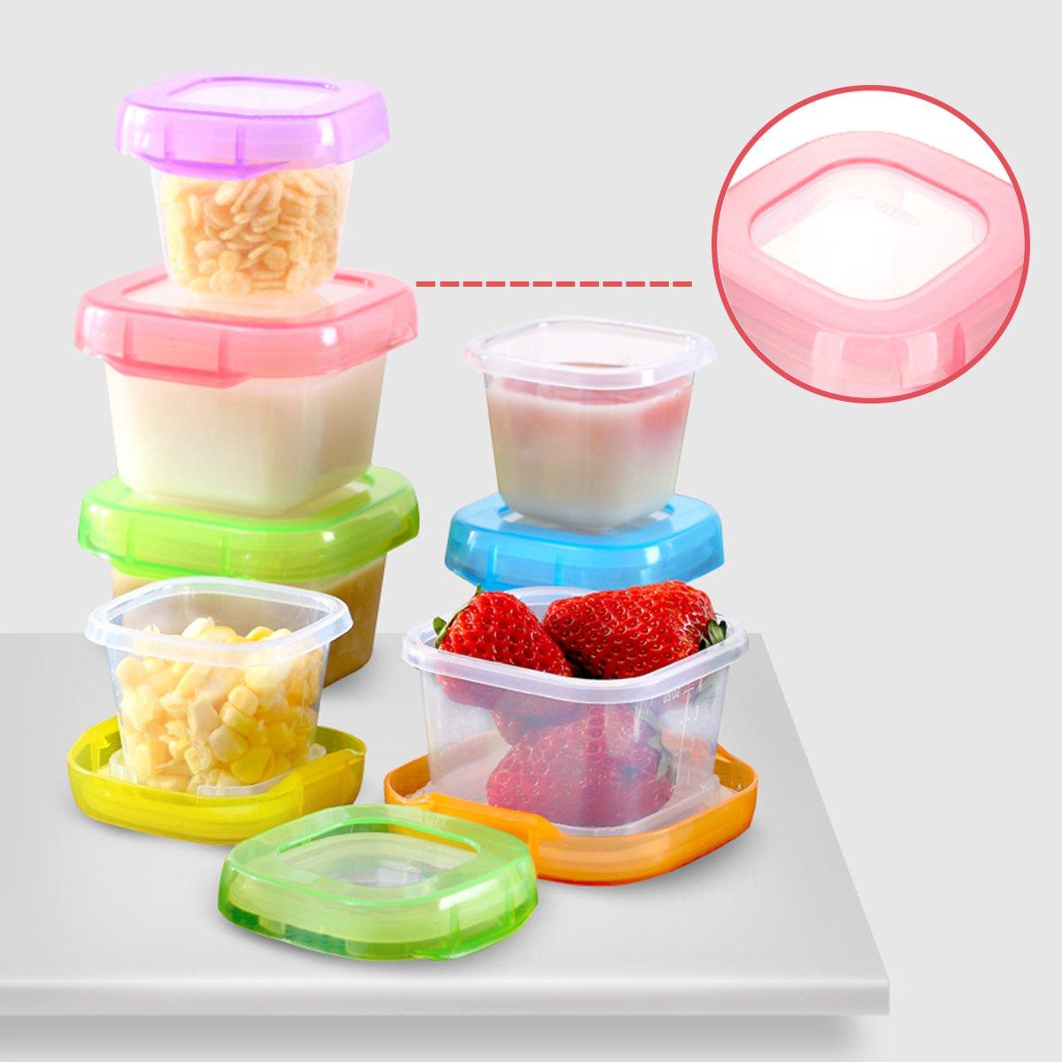 SONARIN BPA-freie Baby-Frischhaltedose Babynahrung Aufbewahrung,Baby-Nahrungserg/änzung Vorratsdose 4 x 120 ml 100/% dicht