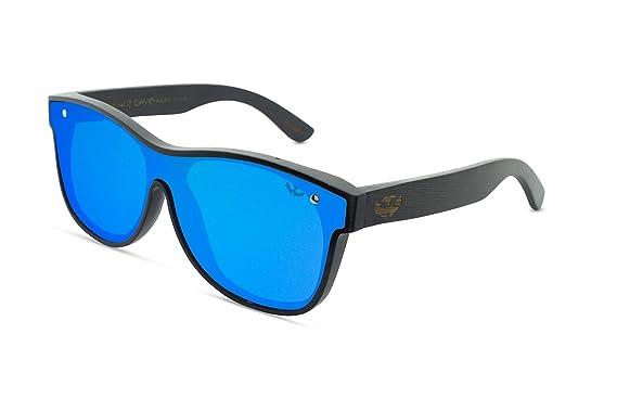 Gafas de sol madera MOSCA NEGRA modelo T-ZONE Blue - Plane ...