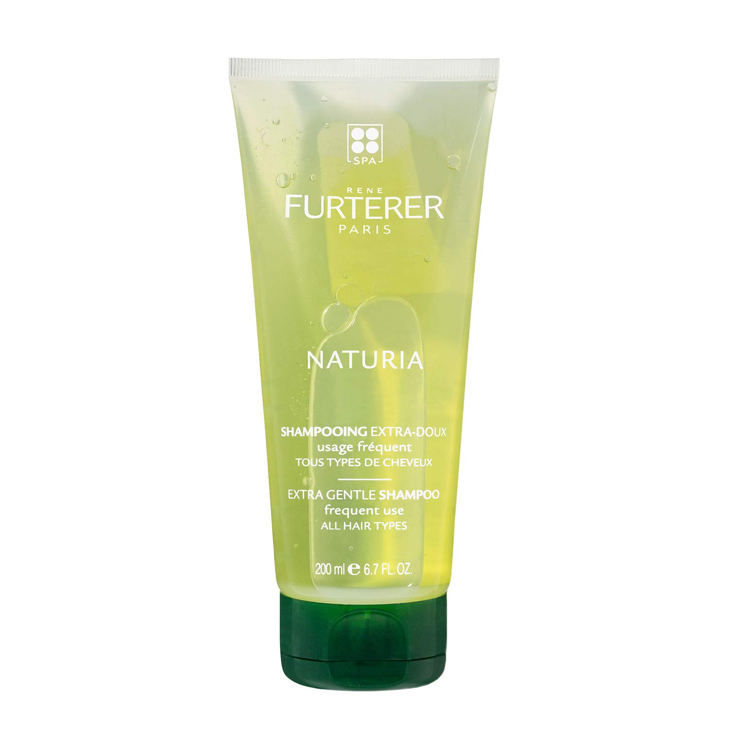 Rene Furterer NATURIA Extra Gentle Shampoo, Daily Use, Peppermint & Basil Oil, All Hair Types