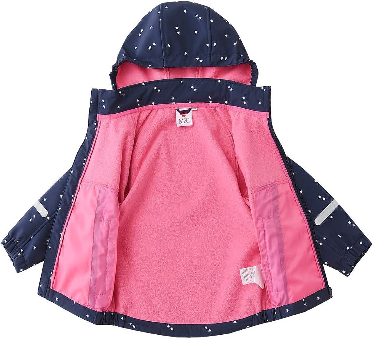 M2C Girls Fleece Lined Softshell Hoodie Jacket Windproof Coat