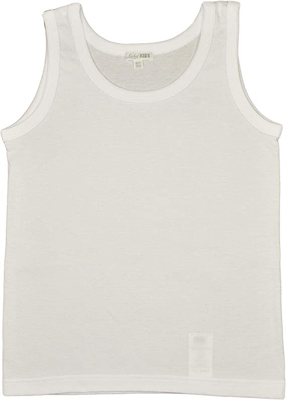 6 Paia di Maglie Intime Bimba Modello Canotta o Tshirt in Puro Cotone 100/% con Cuciture morbide e Tessuto Resistente ai lavaggi da 2 a 14 Anni Colore Bianco