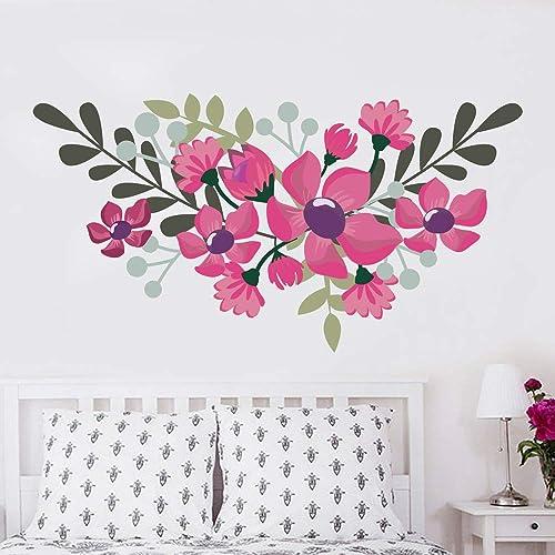 Set of 4 Decals Flower Wall Decals Dahlia Flower Vinyl Home Decor