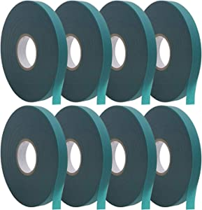Coobbar Stretch Tie Tape, 0.5 Inch Wide Stretch Tie Tape Garden Tie Tape Thick Plant Ribbon Garden Green Vinyl Stake for Indoor Outdoor Patio Plant Use (1200 Feet)