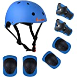 Lanova Kids Adjustable Sports Protective Gear Set Safety Pad Safeguard (Helmet Knee Elbow Wrist) for Roller Bicycle BMX Bike Skateboard Hoverboard and Other Extreme Sports Activities