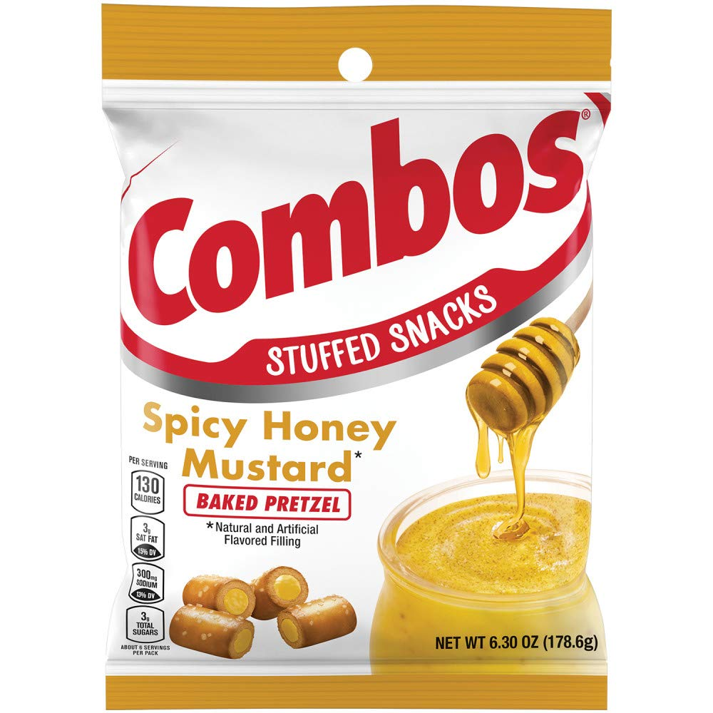 CombosSpicy Honey Mustard Pretzel Baked Snacks, 6.3-Ounce Bag (Pack of 12) (10041419781644)