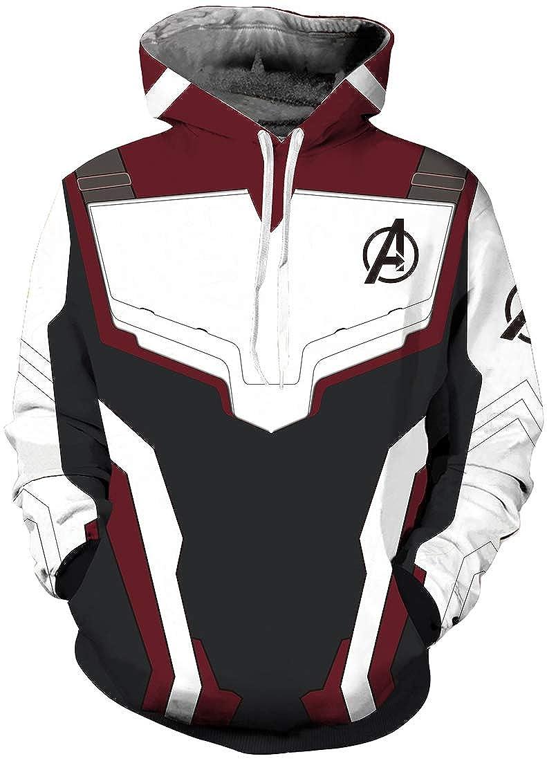 OLIPHEE Avenger's Endgame Kapuzenpullover Cosplay Costumes Quantum Realm Hooded Superhero Sweater mit Kapuze