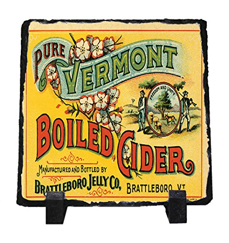 Pure Vermont Boiled Cider Vintage Poster Stone Slate Plaque Picture
