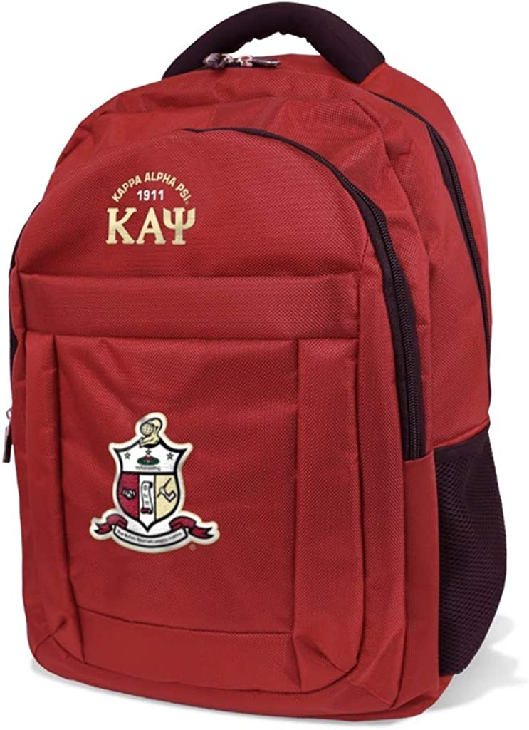 Kappa Alpha Psi Fraternity Men s Backpack Crimson Red