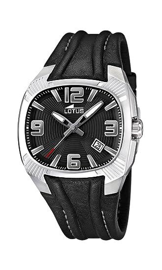 Lotus 15759/6 - Reloj analógico de cuarzo para hombre con correa de piel, color negro: Lotus: Amazon.es: Relojes