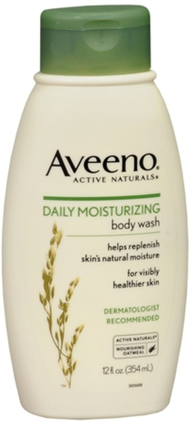 Aveeno Daily Moisturizing Body Wash, 12 Ounce (Pack of 2)