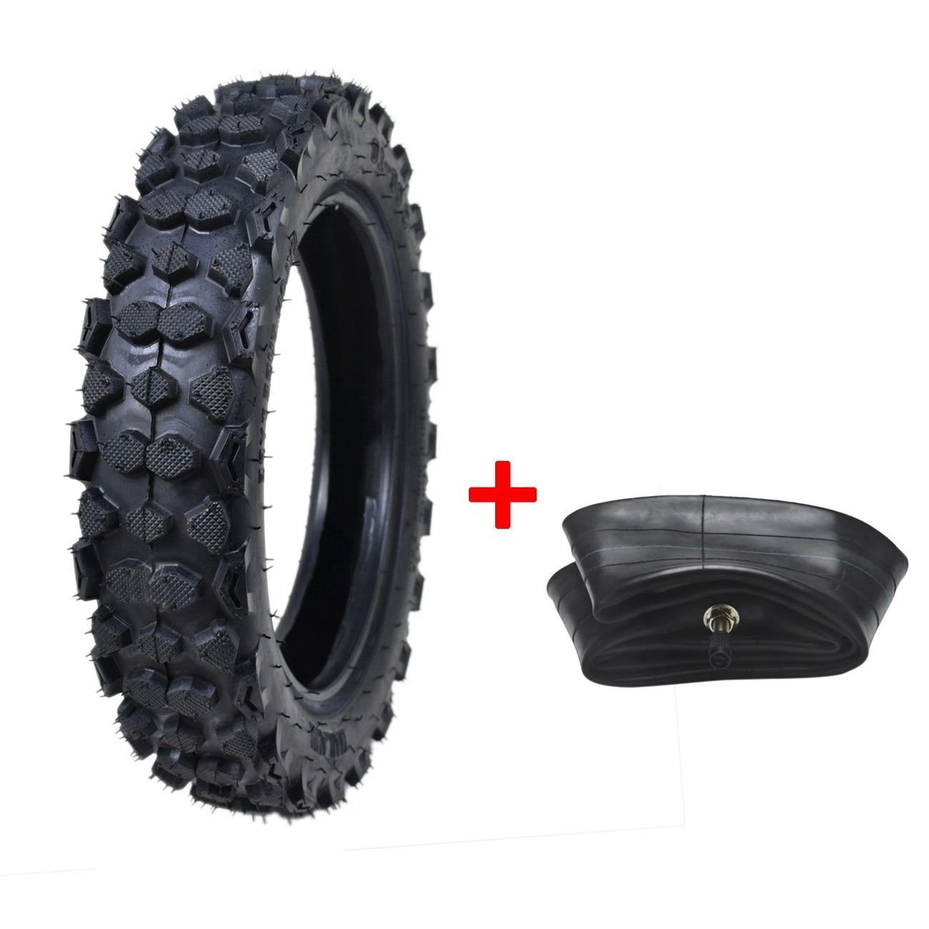 80/100-10 Inch 3.0-10 Rear Tyre Tire with Inner Tube Pit Dirt Bike