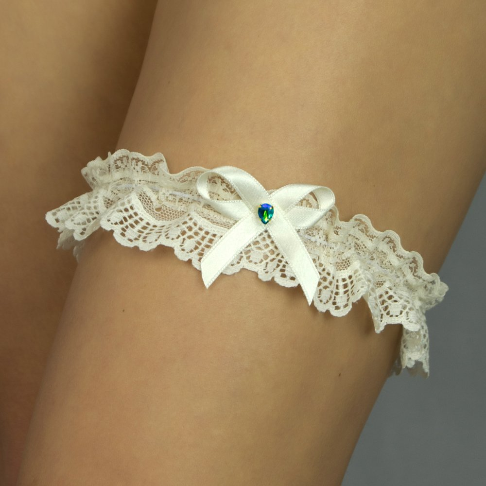 Liguero liga novia boda puntilla regalo novia verde menta turquesa marfil: Amazon.es: Handmade