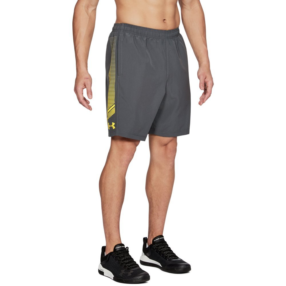 Under Armour Men's Woven Graphic Shorts, Rhino Gray (076)/Tokyo Lemon, X-Large by Under Armour