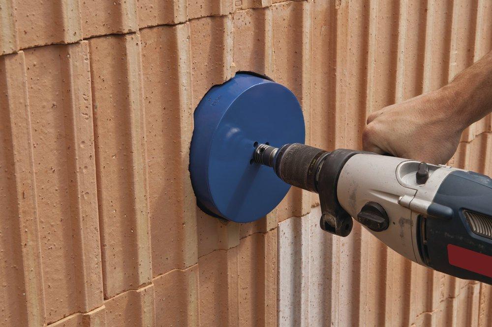 Wolfcraft 3877000 3877000-1 Sierra de Corona Universal Completo con v/ástago Hexagonal y Broca de centrado CT Azul Profundidad de Corte 60 mm diam 40 mm 60x40mm