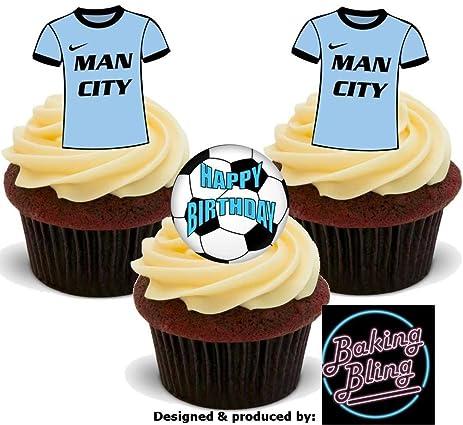 Amazoncom 12 x Soccer Manchester City Happy Birthday Mix Fun