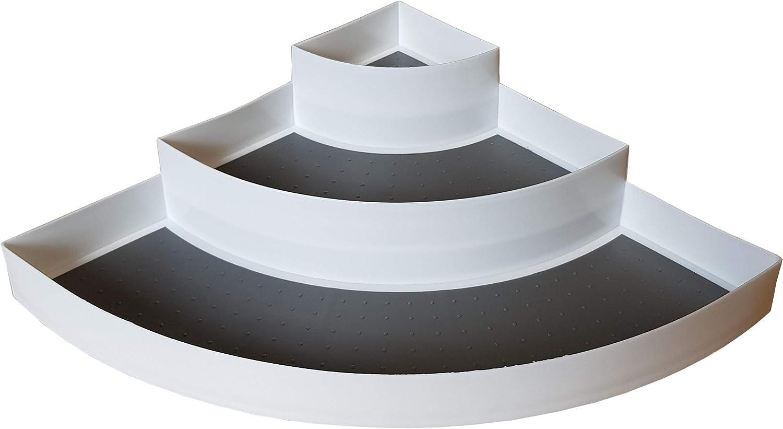 Provance - Estantería esquinera para Especias con 3 estantes (30 x 42 x 9 cm, plástico), Color Blanco: Amazon.es: Hogar