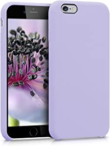 kwmobile TPU Silicone Case Compatible with Apple iPhone 6 / 6S - Soft Flexible Rubber Protective Cover - Lavender