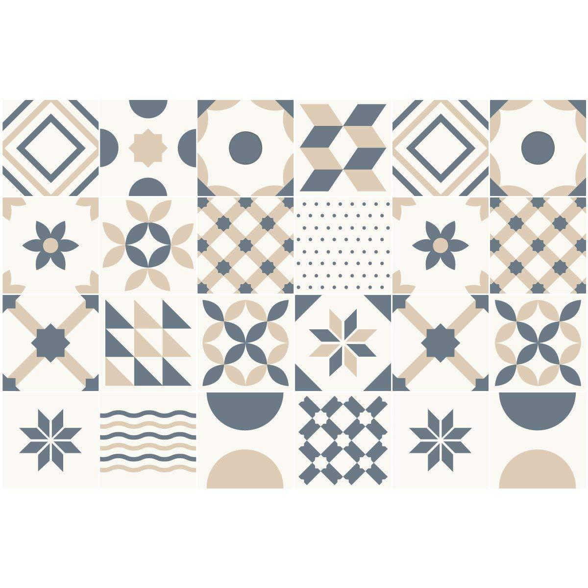 Ambiance-Live Karo-Zement Wandtattoo Wandtattoo Wandtattoo – BlauEJOS – 20 x 20 cm – 24-teilig B072QD5WM5 Wandtattoos & Wandbilder a29c96