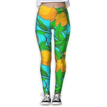 Jack16 Lemon Tree - Pantalones de Yoga para Mujer y niña ...