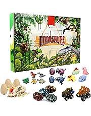 Dinosaurus Adventskalender 2021, 24 stuks, verschillende verrassingen, dinosaurus, speelgoed, Kerstmis, countdown, speelgoed, cadeau voor kinderen, jongens en meisjes