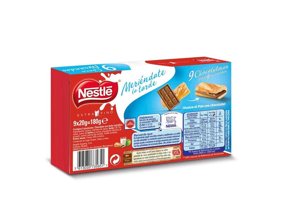 Nestlé Extrafino Choco Meriendas Chocolate con Leche Estuche - 10x180g: Amazon.es: Alimentación y bebidas