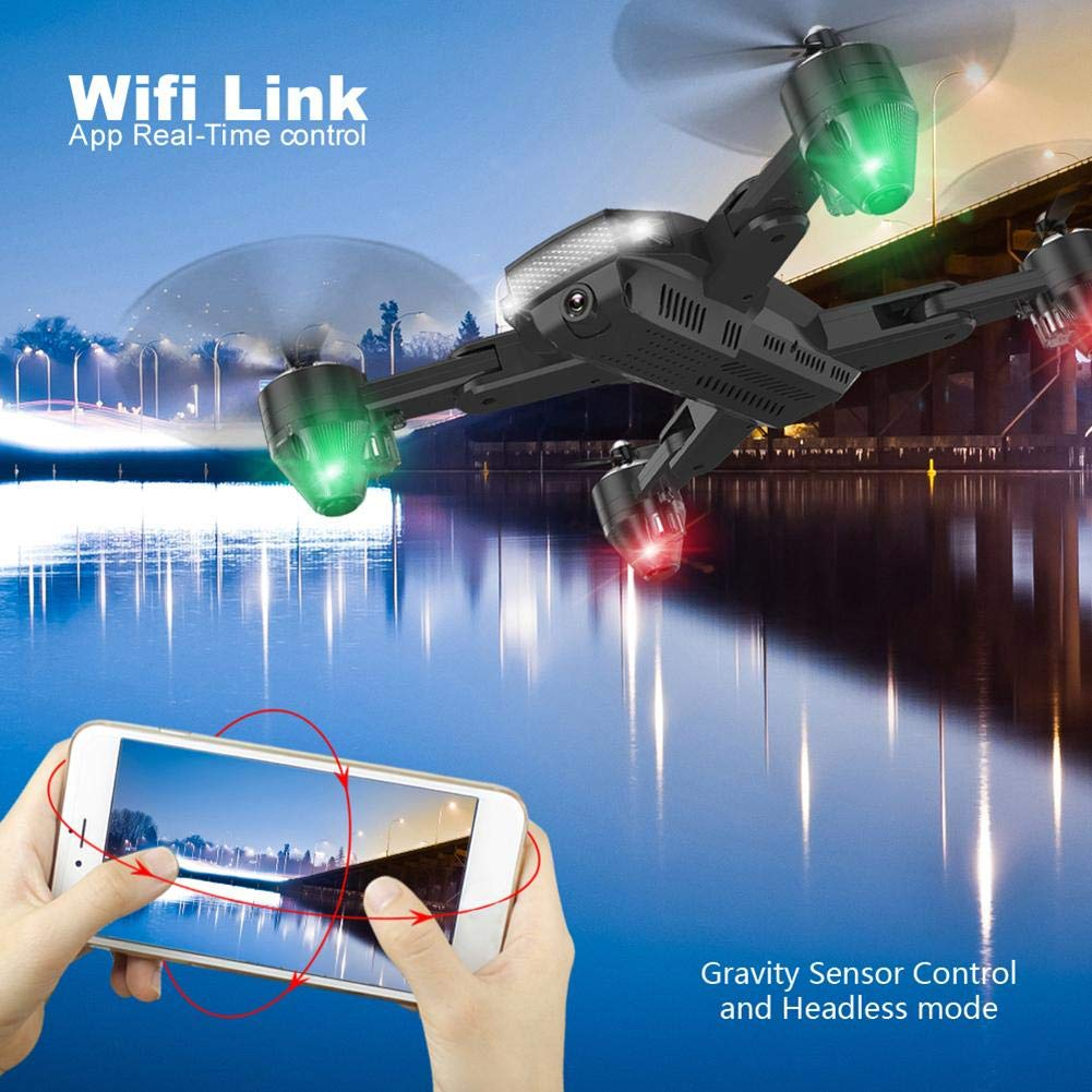 chinatera Foldable Mini Drone, RC Quadcopter with 2 Batteries, Easy to Operate for Beginners, Foldable Arms, 2.4G 6-Axis, Headless Mode, Altitude Hold, One Key Take Off and Landing by chinatera (Image #7)