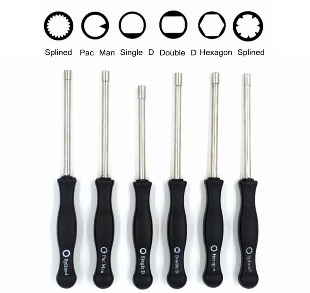 (Set of 6)2 Cycle Carburetor Adjustment Tool 21 Teeth Splined/Pac Man/Single D/Double D / 7-Teeth Splined Pac Man/Hexagon Carb Screwdriver for Common 2 Cycle Small Engine RA-6TOOL