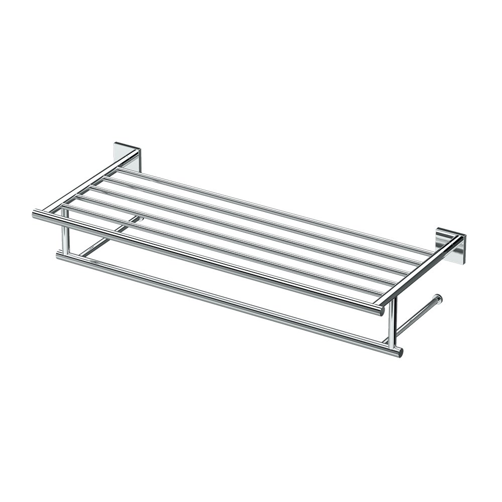 Gatco 4057 Elevate Minimalist Spa Rack, 26'', Chrome