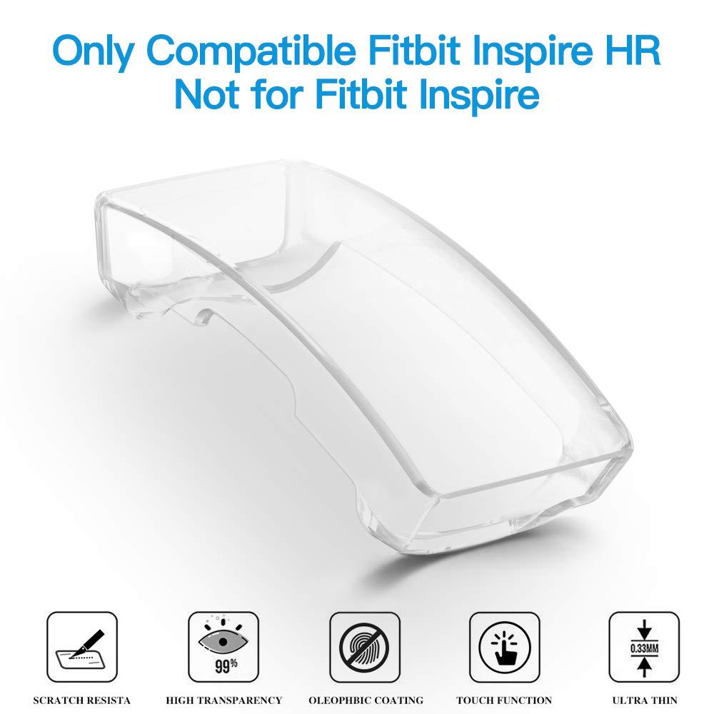CAVN Coque de Protection d/écran Compatible avec Fitbit Inspire HR//Fitbit Inspire Plaqu/é TPU Protecteur d/écran pour Fitbit Inspire HR Ultra Slim 360 Protection Cover incassable Anti-Chocs