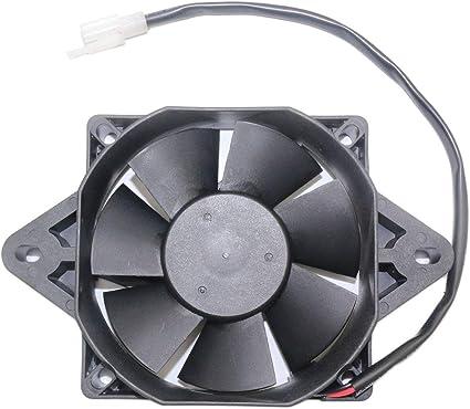 Ventilador de refrigeración del radiador del motor eléctrico de 12 V para 150-250cc ATV Kart Quad Dirt Bike ATV Buggy Motorcycles - Negro: Amazon.es: Coche y moto