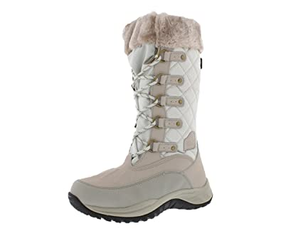 85a5eea10e4 Pacific Mountain Women s Whiteout Water-Resistant Winter Fashion Snow Boots  Size 6