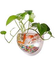 Yooyoo Creative Acrylic Hanging Wall Mount Fish Tank Bowl Vase Aquarium Plant Pot Bowl Bubble Aquarium Decor (7.7 inches)