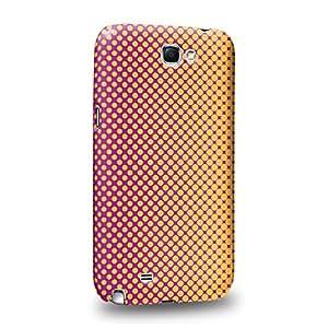Case88 Premium Designs Art Sunrise Halftones Half Tones Carcasa/Funda dura para el Samsung Galaxy Note 2