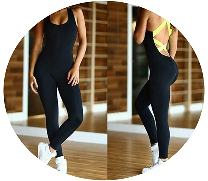 Amazon.com: Womens Sports Suit Tracksuit Yoga Set Backless ...