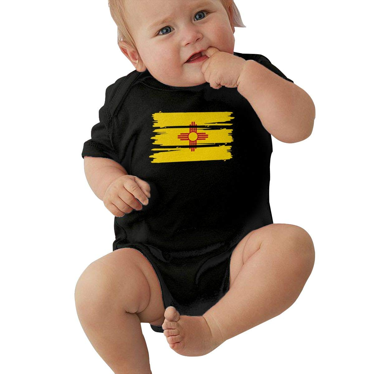 Suit 6-24 Months TAOHJS97 Baby Girls New Mexico Flag Short Sleeve Climbing Clothes Bodysuits