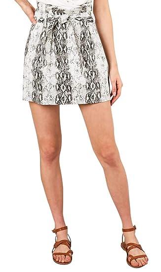 New Ladies Women Snake Print Mini Skirt UK 08-22