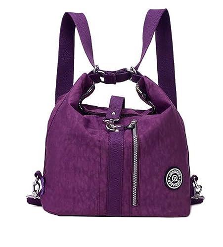 ee7522c4bb DI GRAZIA Convertible(2-way) Women s Waterproof Handbag(Purple ...