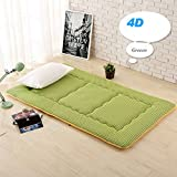 HYXL Collapsible Tatami mats Floor mat Cushion,Summer breathable pillow mattress student dormitory bedroom foldable sleeping pad Bed protector-B 90x190cm(35x75inch)
