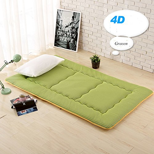 HYXL Collapsible Tatami mats Floor mat Cushion,Summer breathable pillow mattress student dormitory bedroom foldable sleeping pad Bed protector-B 90x190cm(35x75inch) by HYXL