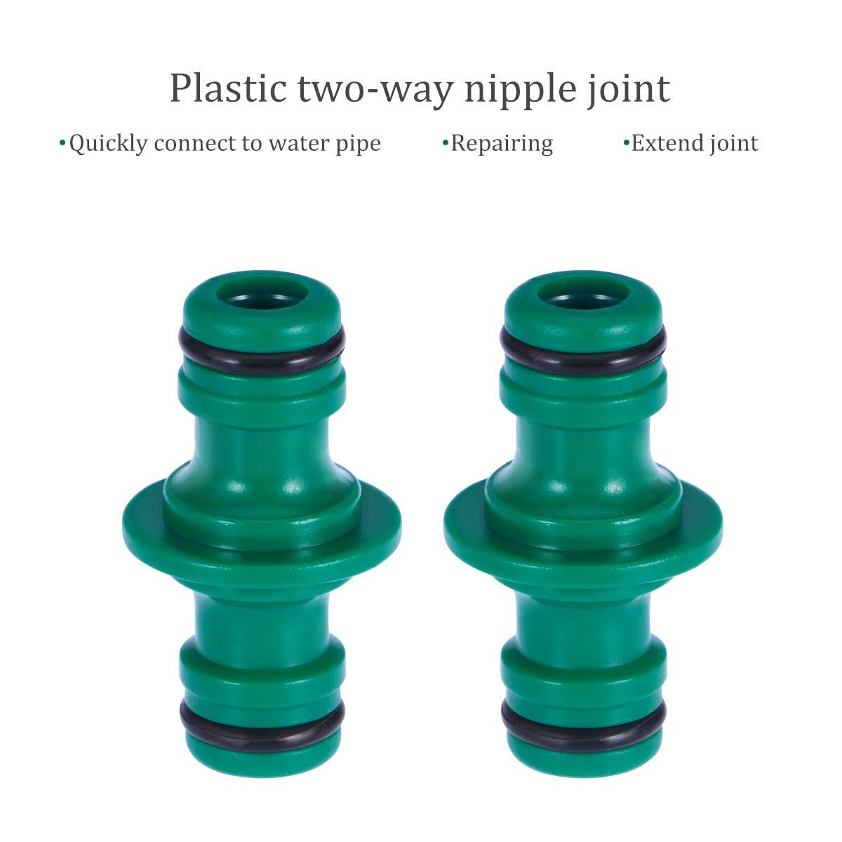 BESTONZON Adaptador de empalmes de dos vías de 2 piezas Adaptador de acoplamiento plástico de 1/2 pulgadas para Garden House: Amazon.es: Hogar