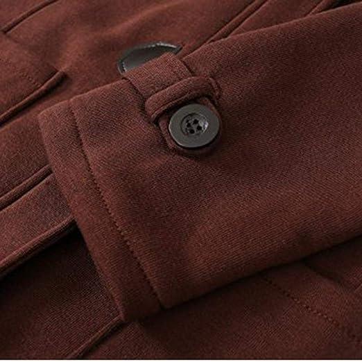 diaped Mujer Exterior con Capucha Cuerno Hebilla de Cuero sólido Abrigo Outwear Abrigos: Amazon.es: Ropa y accesorios