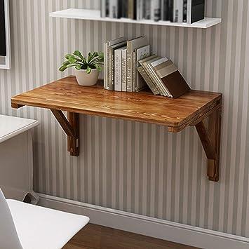 AFDK Mesa de comedor plegable de madera maciza Mesa montada en la ...