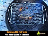 Fish Grill Basket LG - PERFECT FOR LARGE THICK FISHES - BBQ Rack Made From Dishwasher Safe Stainless Steel with Wire Mesh Food Holder - Great for Grilling Barbecue Vegetables & Shrimp - Cave Tools