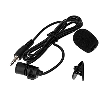 3.5mm Lavalier Clip Metal Mono Microphone for Lound Speaker Computer PC